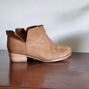 Seychelles Tan Brown Leather Booties Sz 7.5